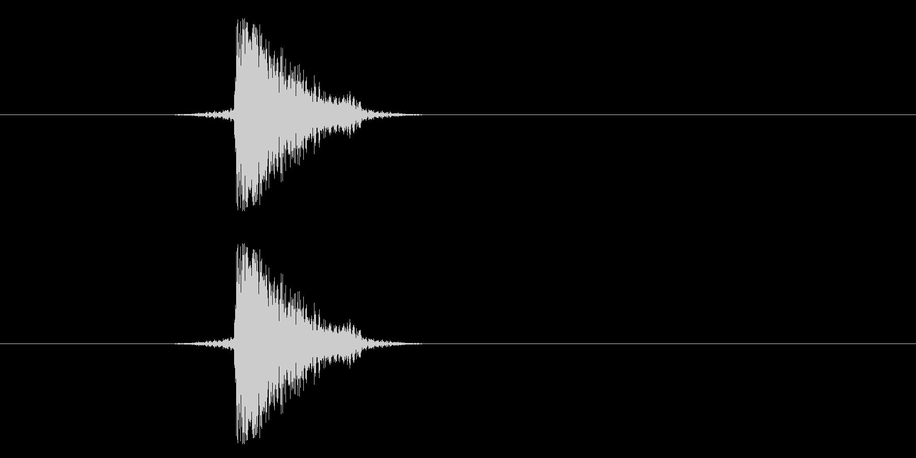 ジャン!リバースオケヒその2_音程高めの未再生の波形