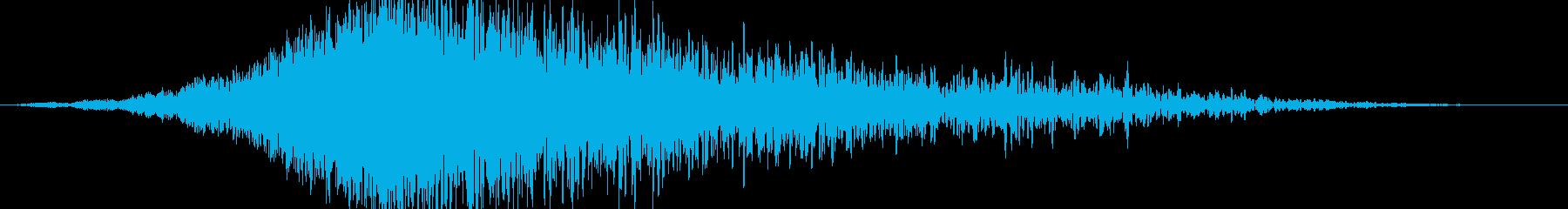 びっくりする雷の怖い音(ホラー)の再生済みの波形