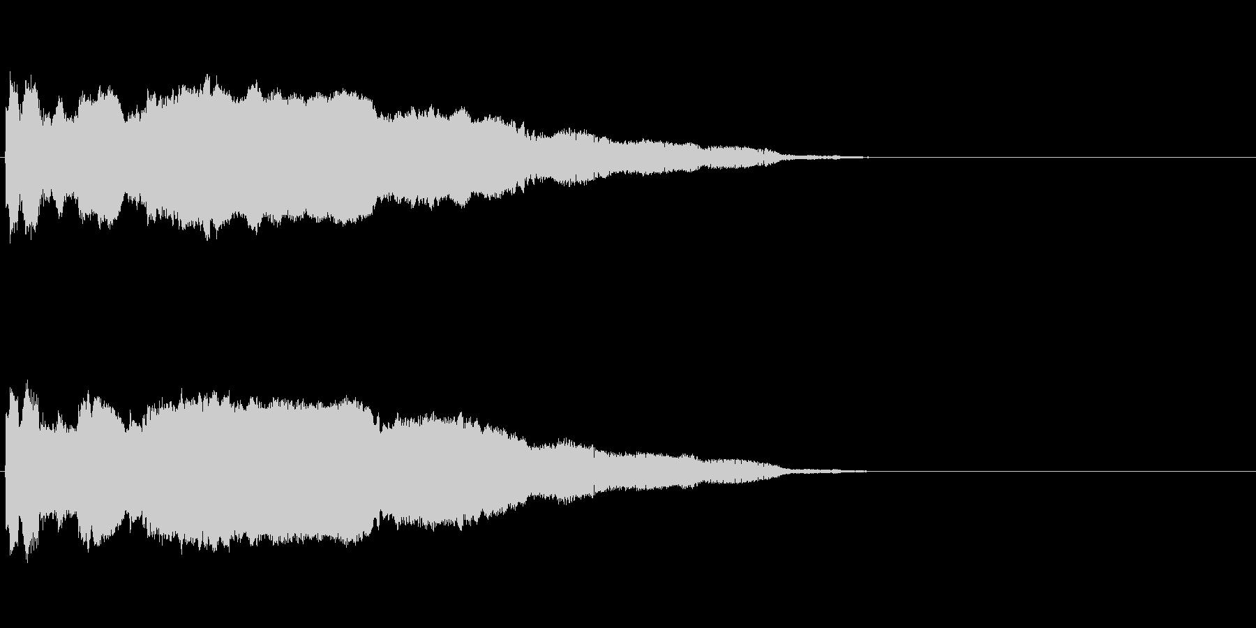 「プ〜〜ッ!」おもちゃの鳥の鳴き声の擬音の未再生の波形