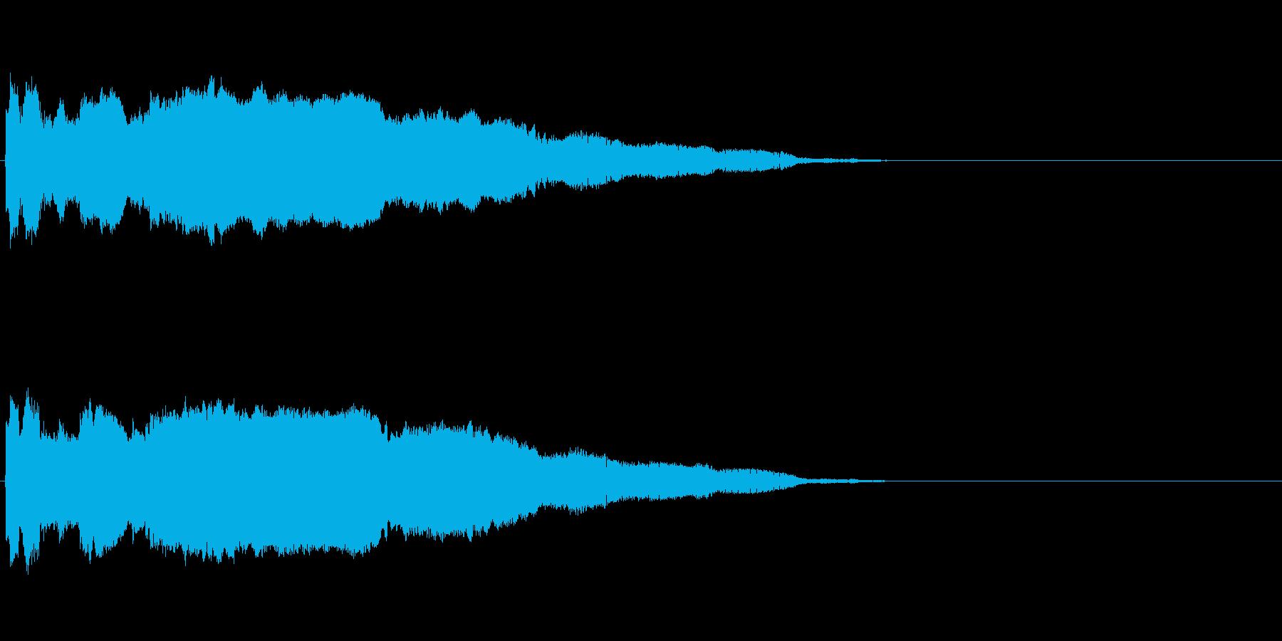 「プ〜〜ッ!」おもちゃの鳥の鳴き声の擬音の再生済みの波形