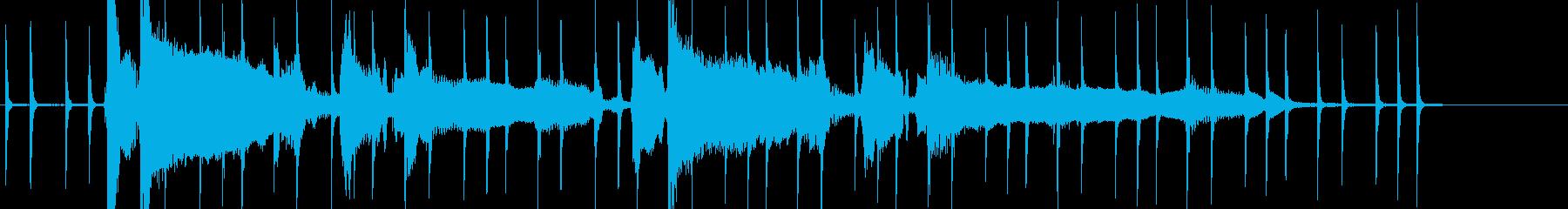 カンパイソング アコギとパーカッションの再生済みの波形