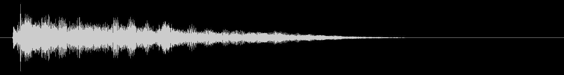 エレピのムーディーな短いジングルの未再生の波形