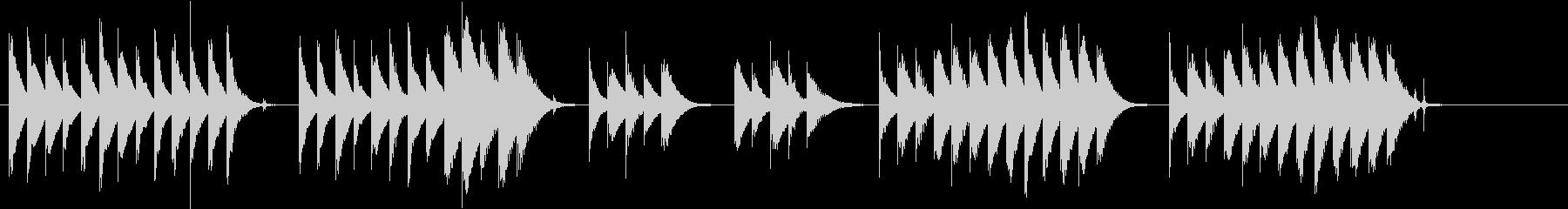 木琴の音が特徴のほのぼのとしたジングルの未再生の波形