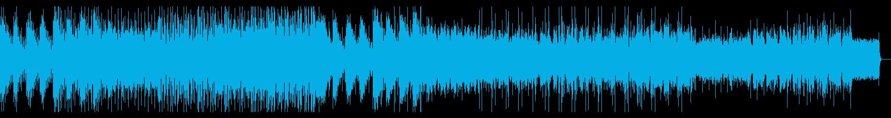 ダンサンブルなグリッジエレクトロニカの再生済みの波形