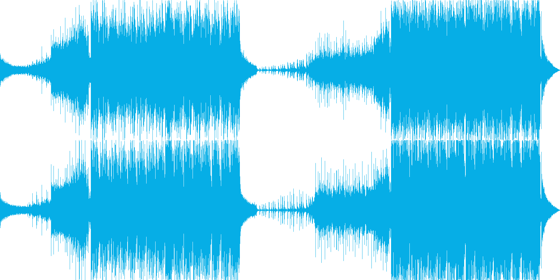 明るいエレクトロポップの再生済みの波形