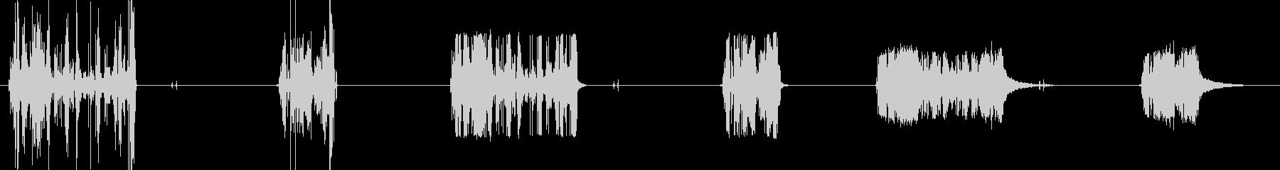 リトラクタブル電源コード、X 3ル...の未再生の波形