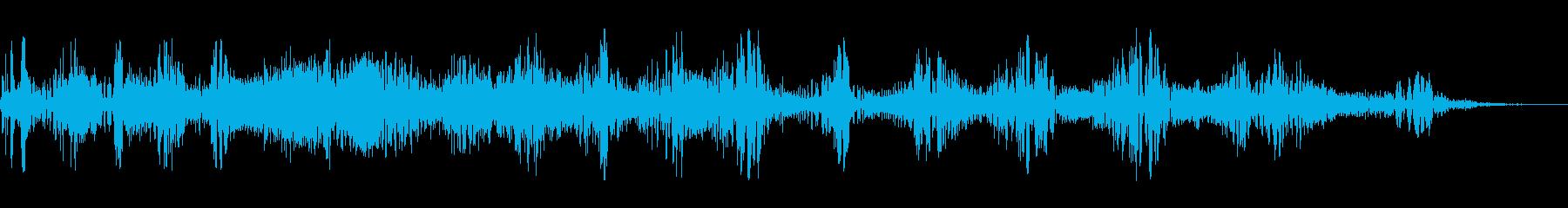 スパッタリングスワイプの再生済みの波形