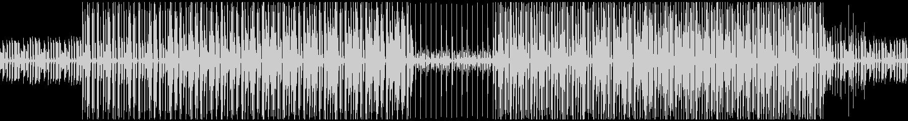 ピアノのシンプルなボサノバBGMの未再生の波形