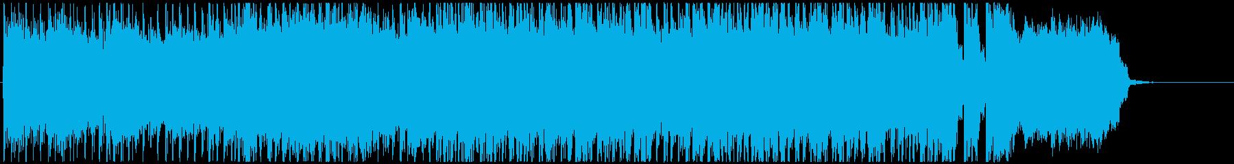 疾走感のある和風メタル系OPジングルの再生済みの波形