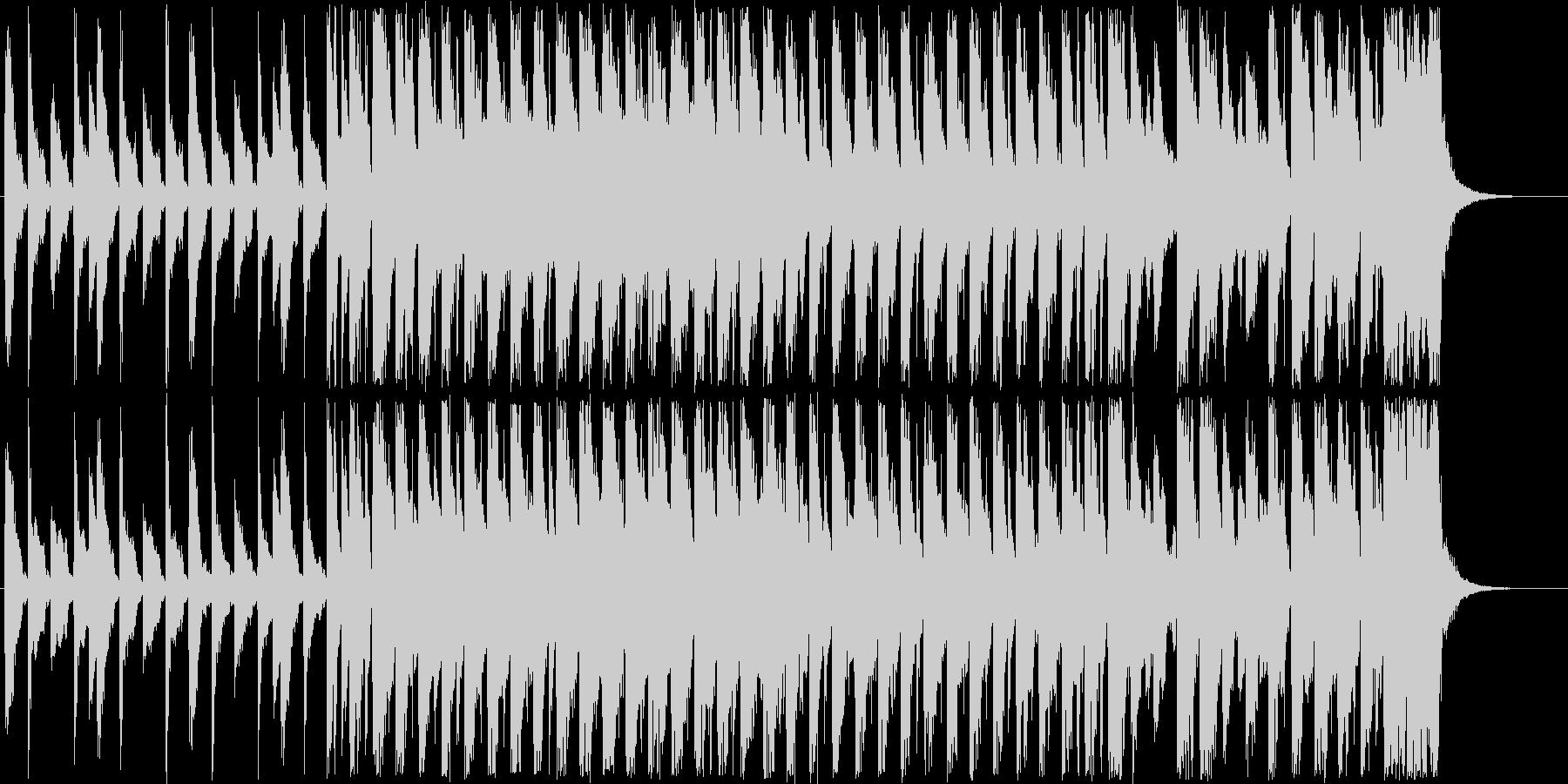 アップテンポの短めのシンセサイザーの曲の未再生の波形