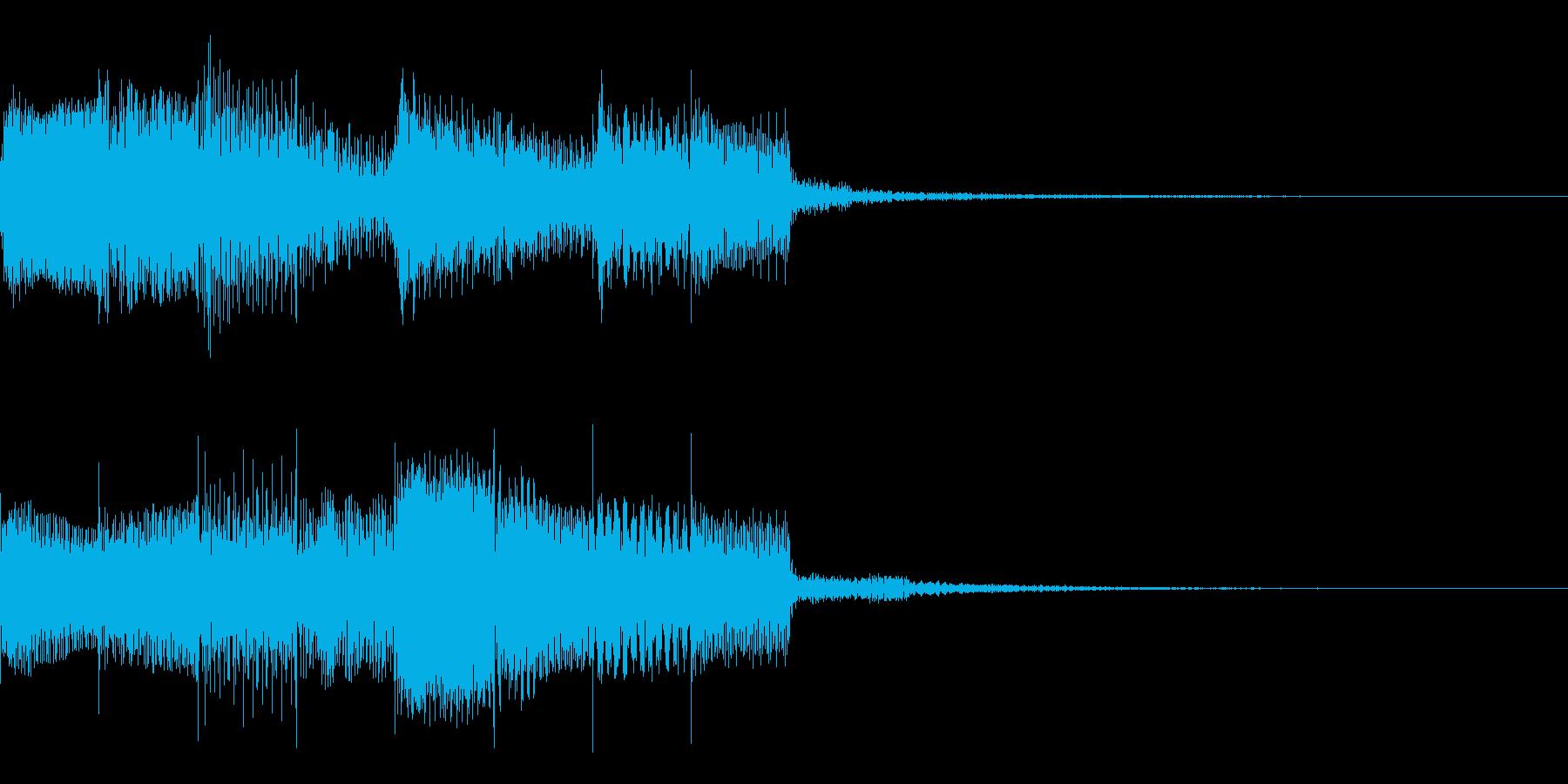 特殊シンボル払い出し音の再生済みの波形