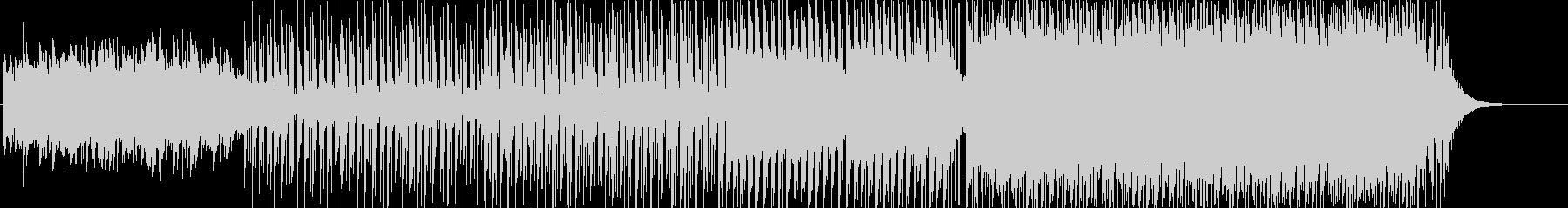 一日の流れに沿った展開のトロピカルハウスの未再生の波形