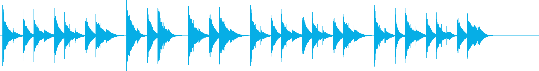 木琴の音色で作ったほのぼのとした曲の再生済みの波形