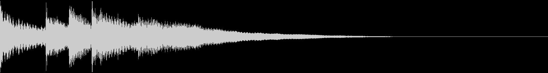 ミステリアスなオルゴールのジングルの未再生の波形