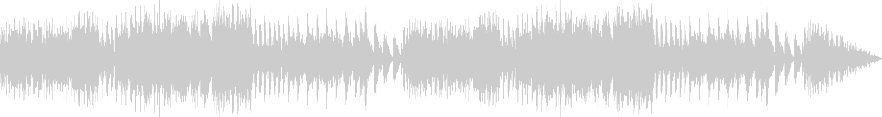 オルゴールの音色が落ち着ける癒しBGMの未再生の波形