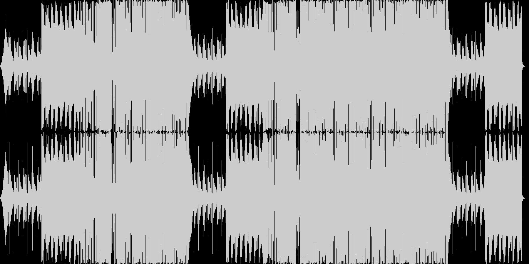 エンディング・かわいい・楽しい EDMの未再生の波形