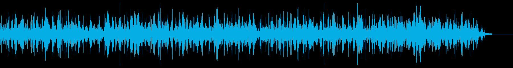 ラウンジのお洒落ジャズピアノバラードの再生済みの波形