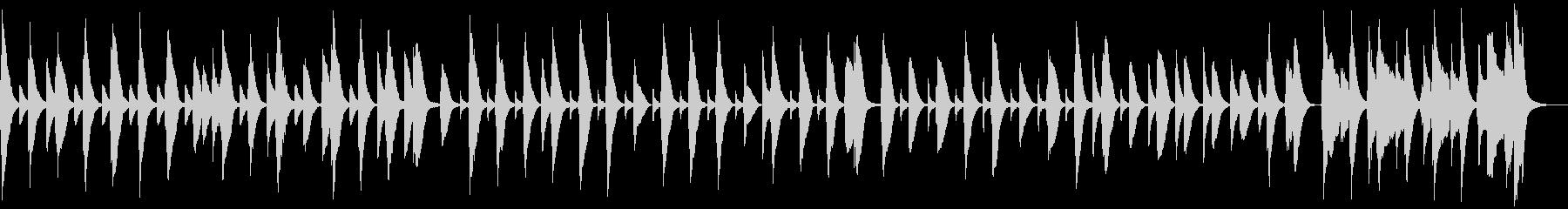 脱力・木琴とバスーンと笛のコミカル曲の未再生の波形