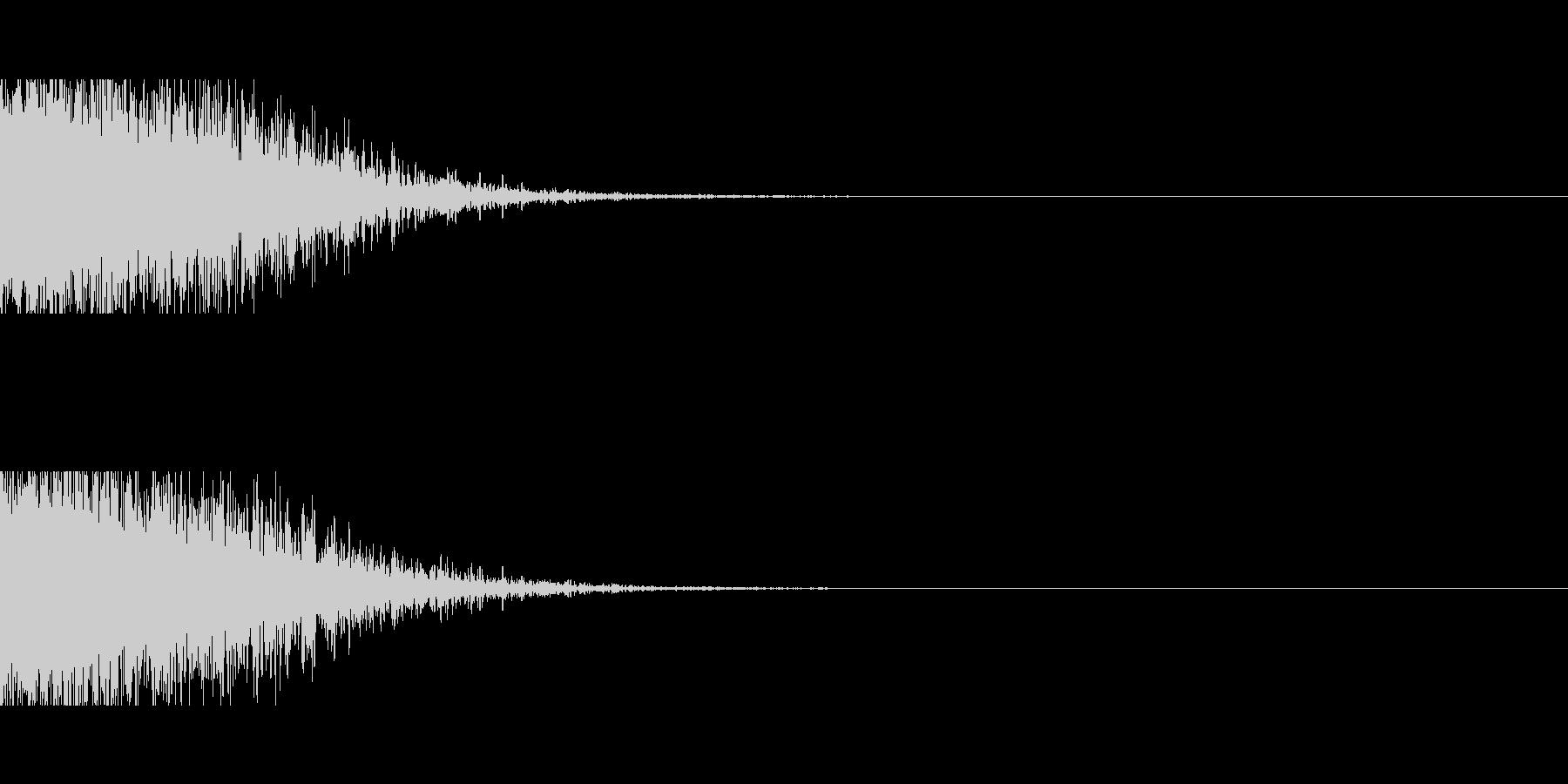 ドーン、バーン(爆発、爆弾、戦い)の未再生の波形