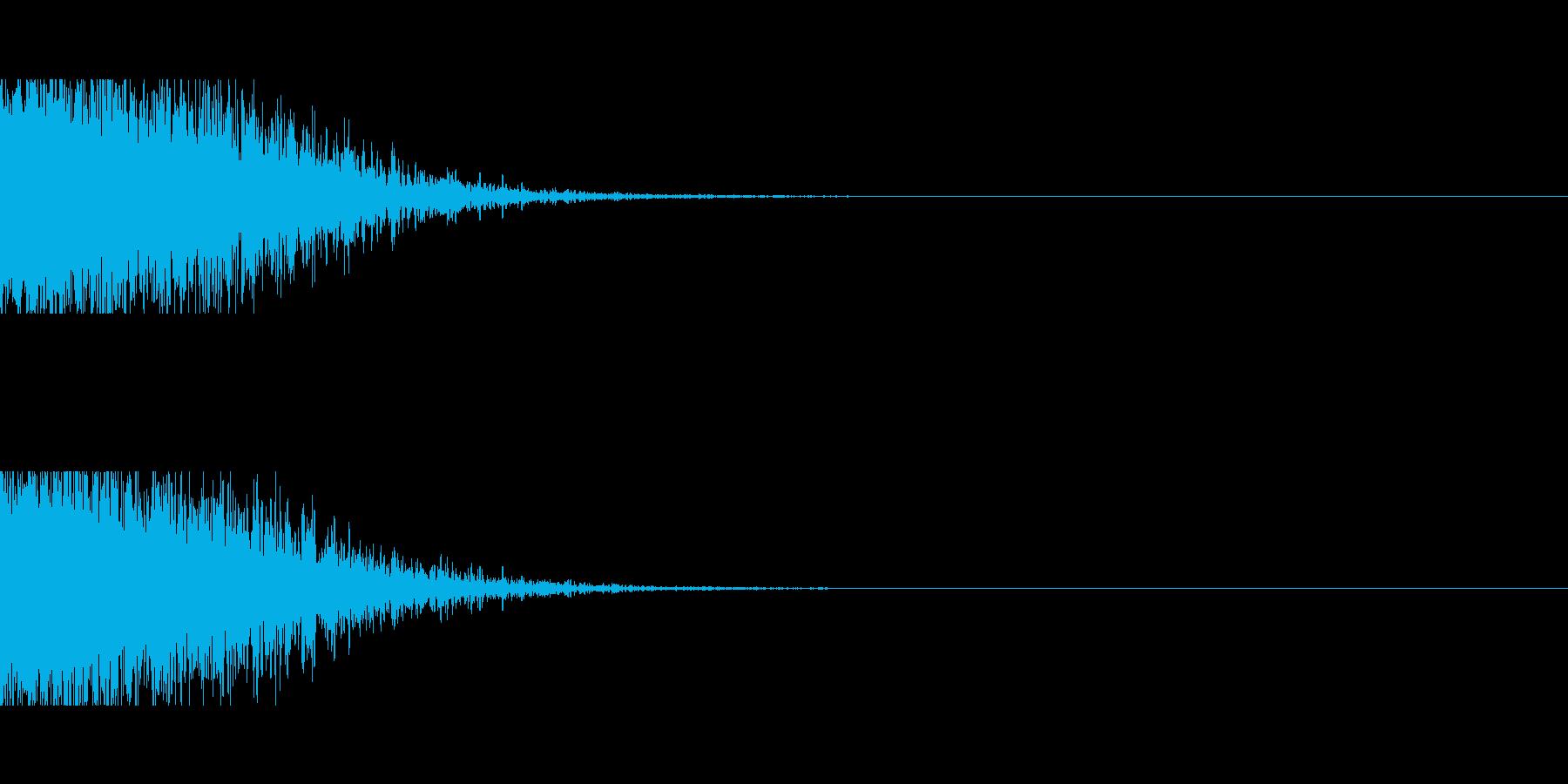 ドーン、バーン(爆発、爆弾、戦い)の再生済みの波形