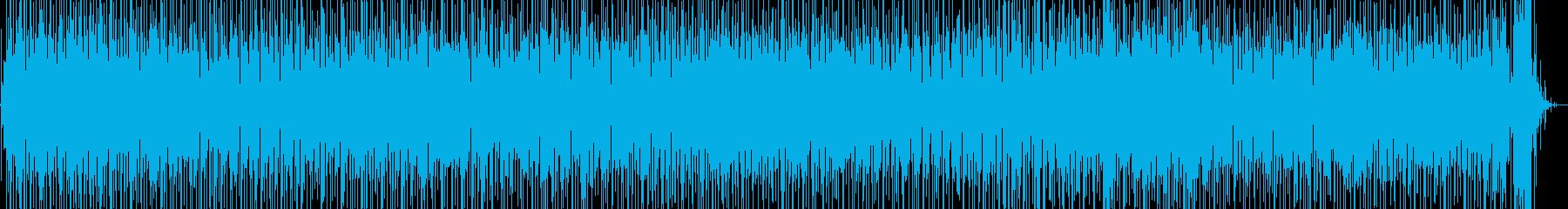 ギターとパーカッションのラテンファンクの再生済みの波形