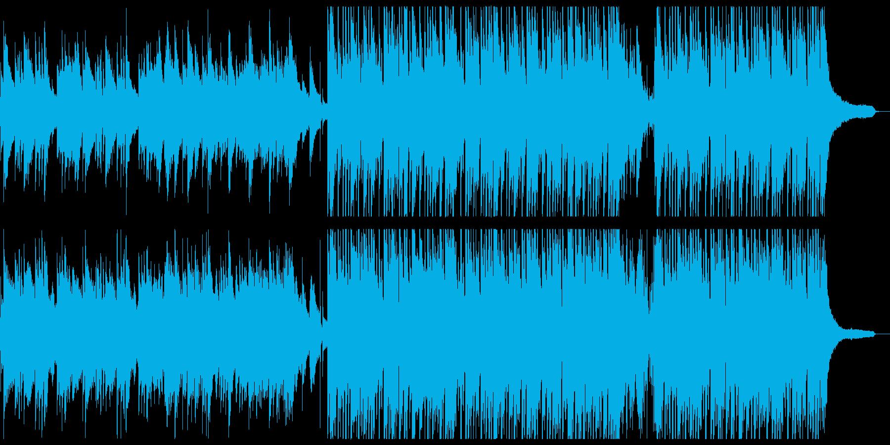 ほのぼのとしたアコースティックポップスの再生済みの波形