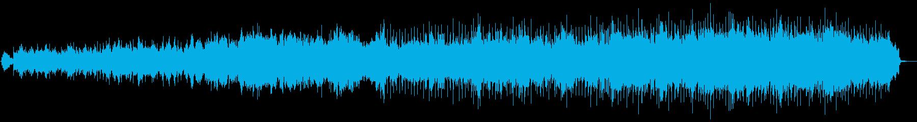 キラキラ流れる透明な水のイメージです。の再生済みの波形