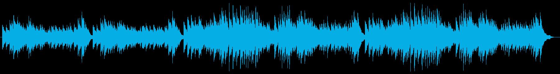 哀愁漂う悲しきピアノ曲の再生済みの波形
