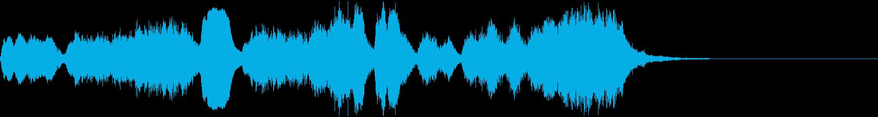 ほのぼのかわいいフルートとストリングスの再生済みの波形