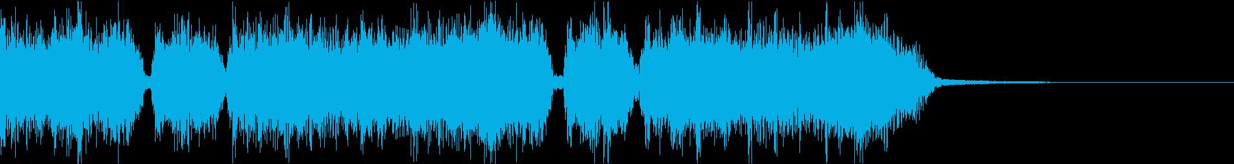 エネルギッシュ・ロックなサウンドロゴ05の再生済みの波形