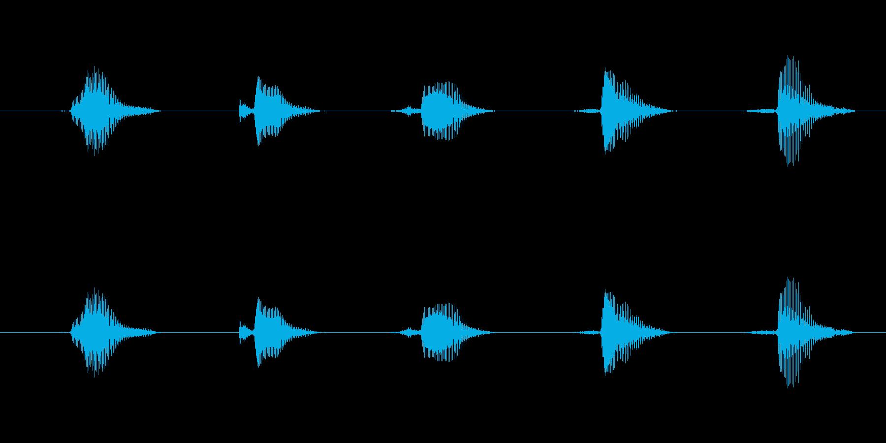 英数字1~5男性スタンダードの再生済みの波形