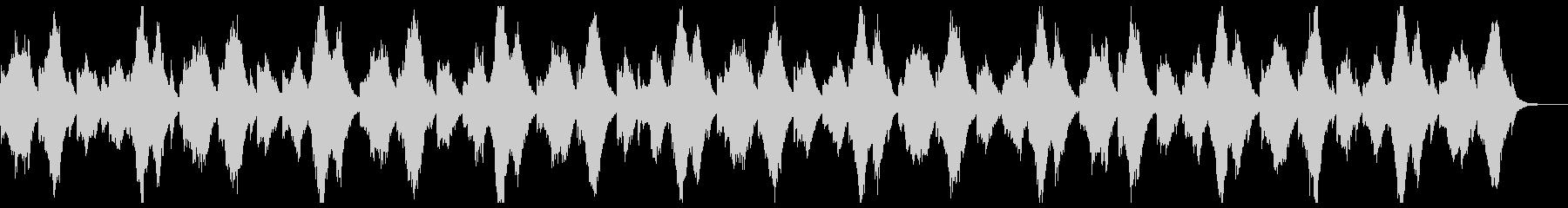 ピアノとシンセによる静かな曲の未再生の波形