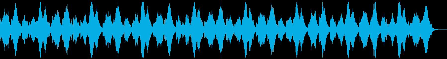 ピアノとシンセによる静かな曲の再生済みの波形