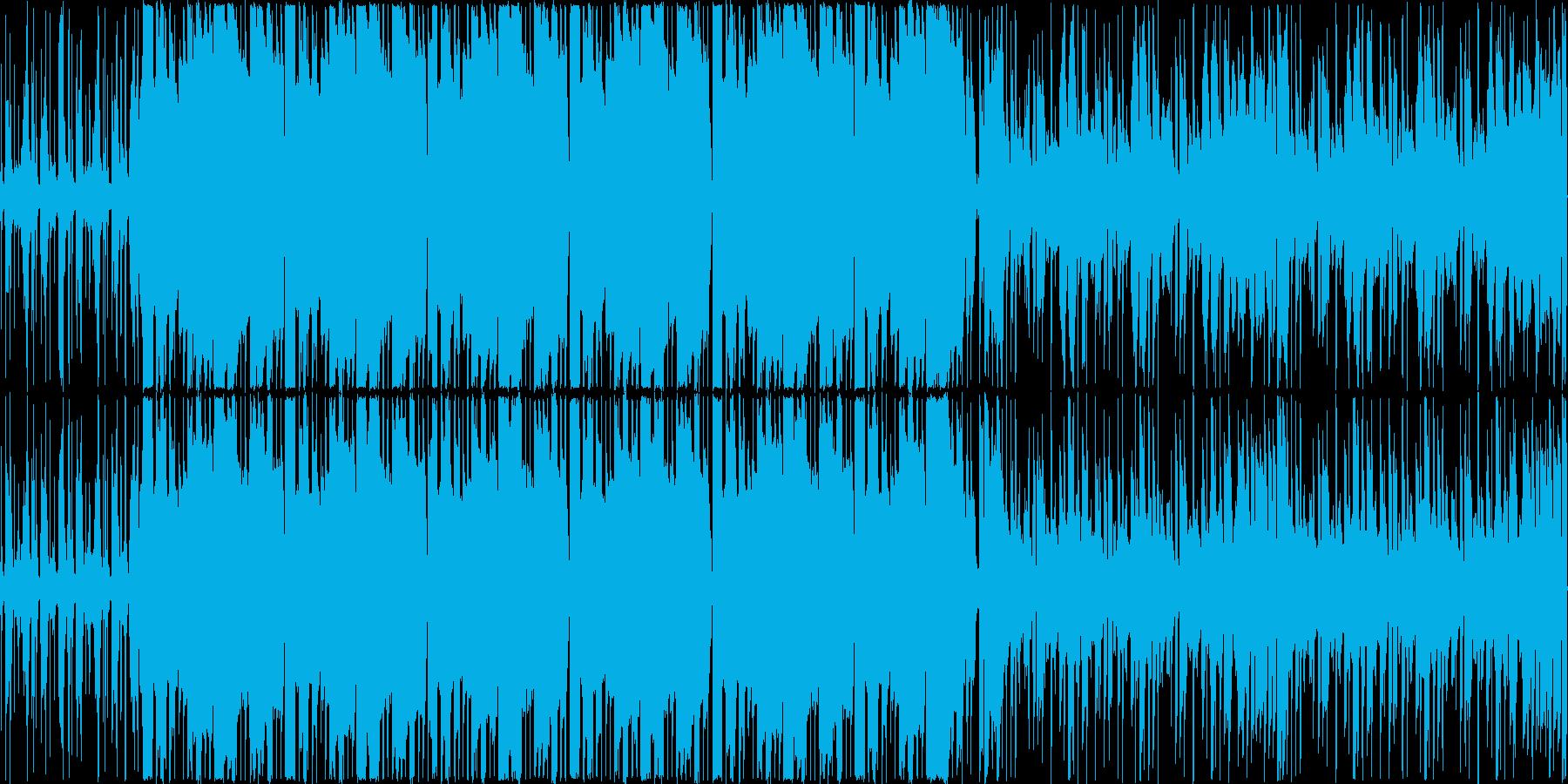 木琴などの打楽器と打ち込みを混ぜたトラ…の再生済みの波形