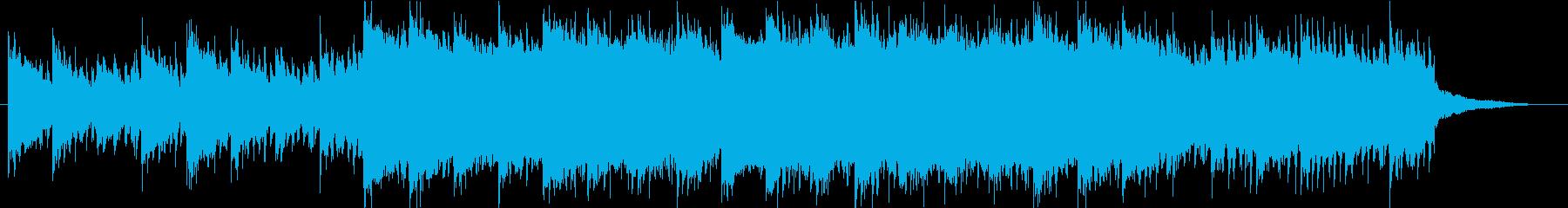 ヴァイオリンが感動的アンビエント系BGMの再生済みの波形