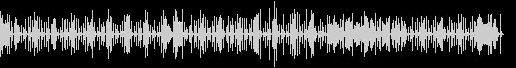 とぼけた動物のマリンバ日常曲(打楽器無)の未再生の波形