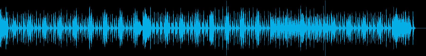 とぼけた動物のマリンバ日常曲(打楽器無)の再生済みの波形