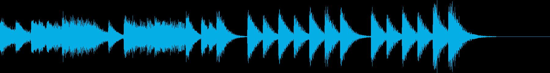 これぞ日本!熱気あるお祭りピアノジングルの再生済みの波形