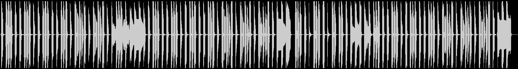 ぐうたらでのんきなコミカル曲の未再生の波形