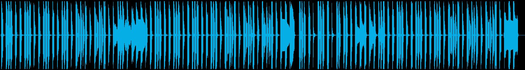 ぐうたらでのんきなコミカル曲の再生済みの波形
