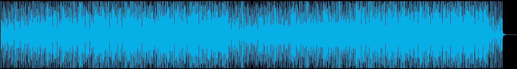 映像用おしゃれボサノバサンバ明るいリズムの再生済みの波形