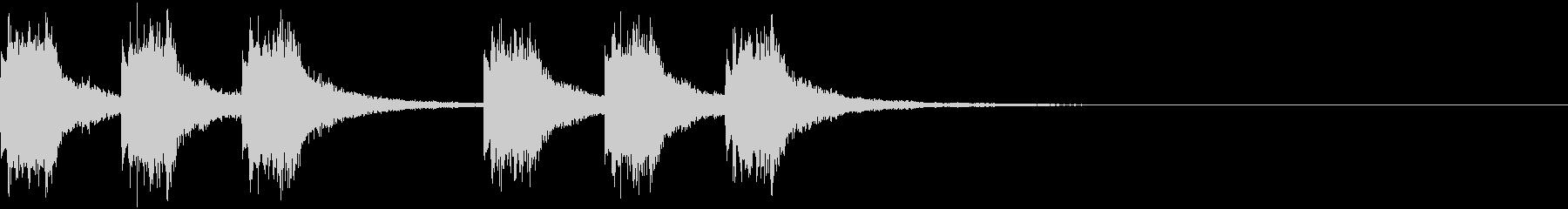 綺麗で印象的な着信・通知音2の未再生の波形