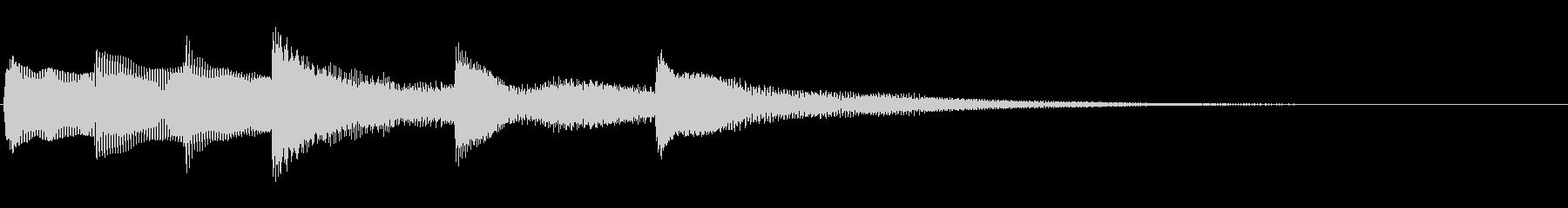 【生演奏】明るいピアノジングルの未再生の波形