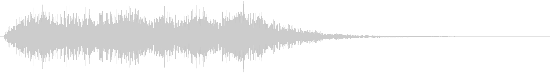 ステージクリア的な短いファンファーレで…の未再生の波形