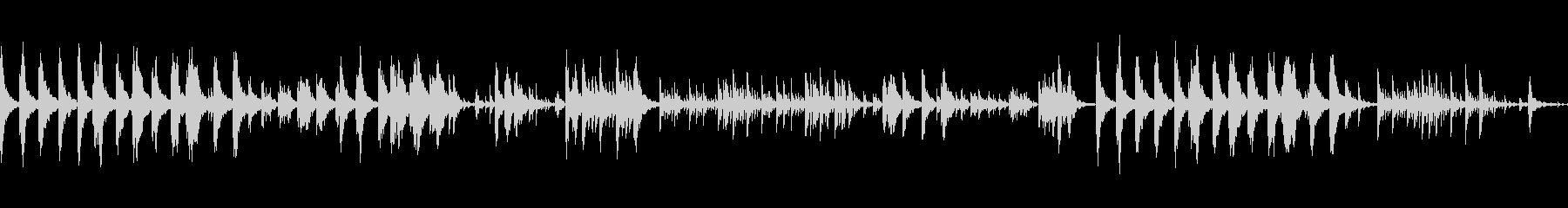 涼しげなピアノトラックの未再生の波形