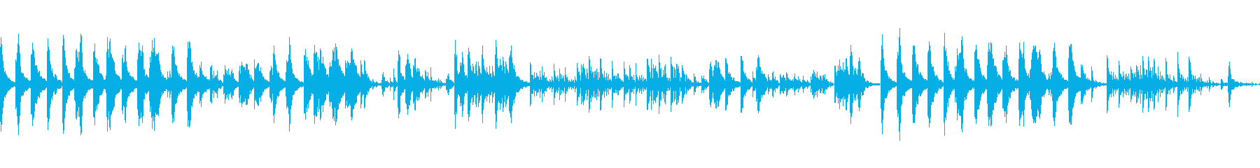 涼しげなピアノトラックの再生済みの波形