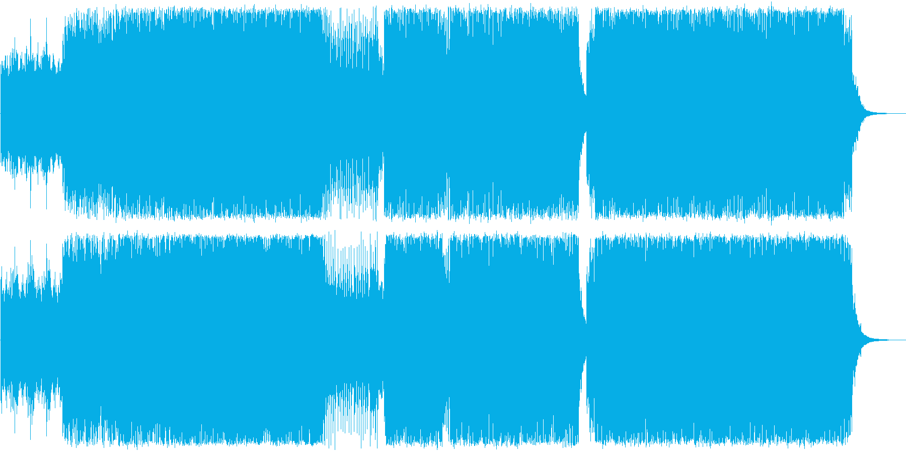 アートコア、幻想的なドラムンベースの再生済みの波形