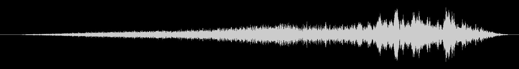 緊張 ゴースト合唱団トランジション03の未再生の波形