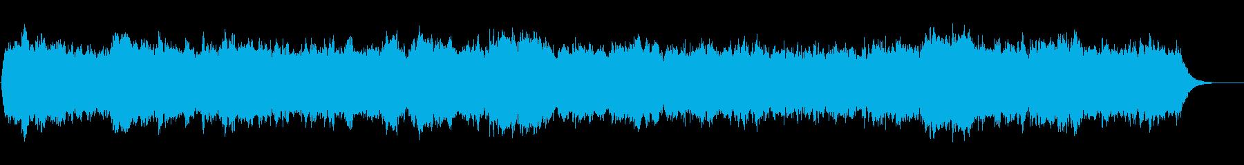 三声の壮大なパイプオルガン曲の再生済みの波形