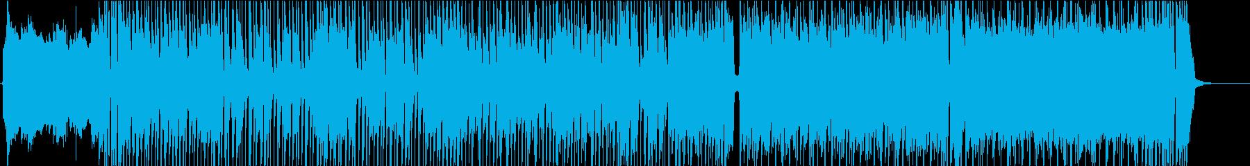 グルーヴィーなおしゃれバンド曲の再生済みの波形